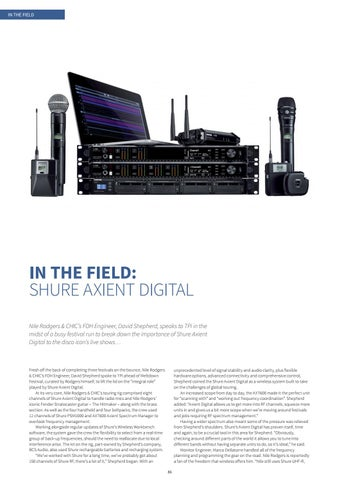 Page 86 of In the Field: Shure Axient Digital