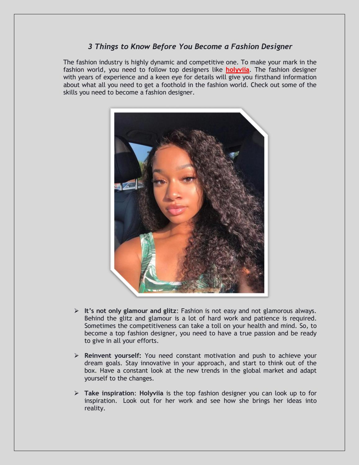 3 Things To Know Before You Become A Fashion Designer By Dieng Olivia Issuu