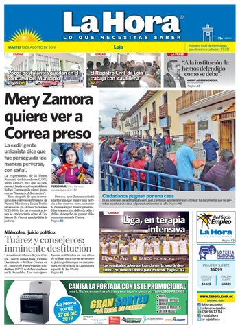 f4eb182892eb Diario La Hora Loja 13 de agosto 2019 by Diario La Hora Ecuador - issuu