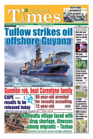 Guyana Times Tuesday August 13, 2019 by Gytimes - issuu