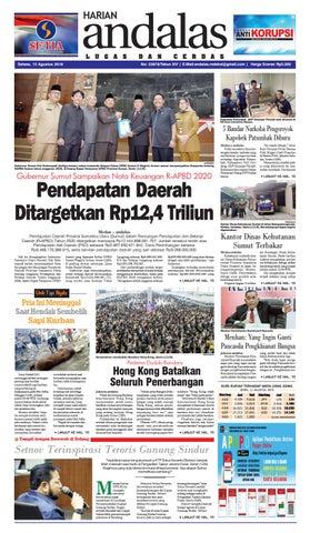 Epaper Harian Andalas 13 agustus 2019 by media andalas - issuu