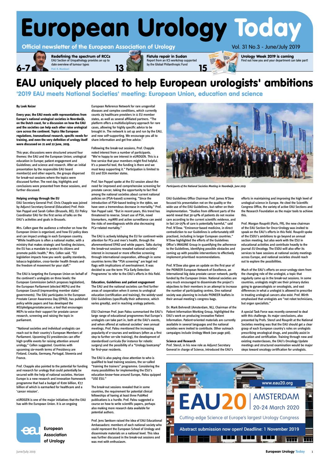 European Urology Today Vol 31 No 3 June July 2019 By