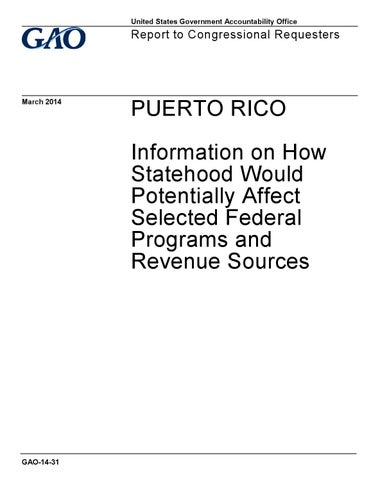 PUERTO RICO: Information on How Statehood Would Potentially