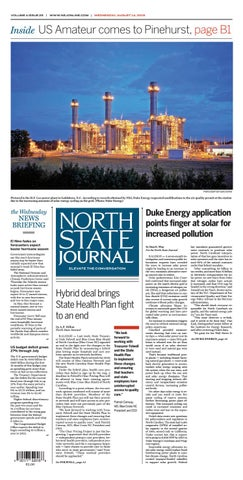 North State Journal Vol  4, Issue 25 by North State Journal