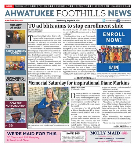Ahwatukee Foothills News - August 14, 2019 by Times Media