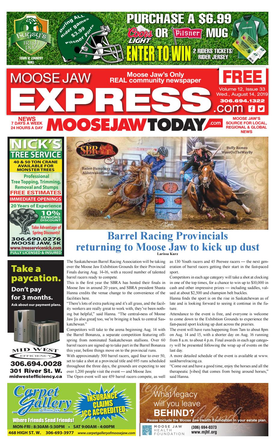 Moose Jaw Express August 14, 2019 by Moose Jaw Express - issuu