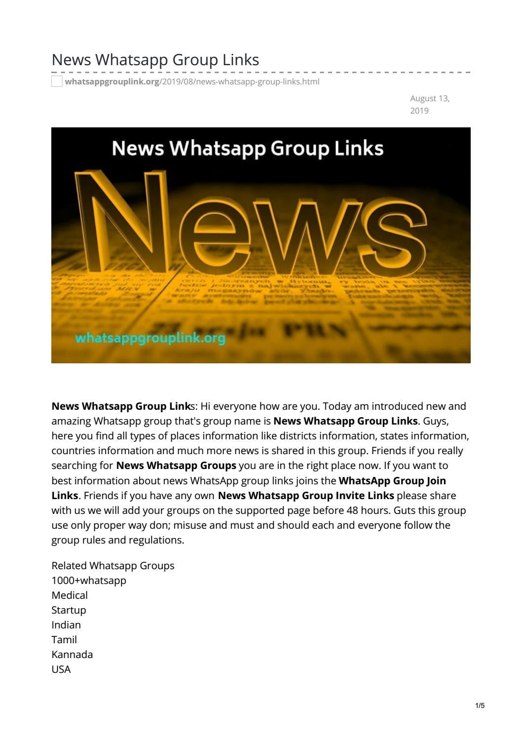 News Whatsapp Group Links by whatsappgrouplinks77 - issuu