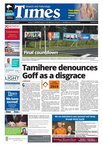 Howick and Pakuranga Times, Thursday, August 15, 2019 by