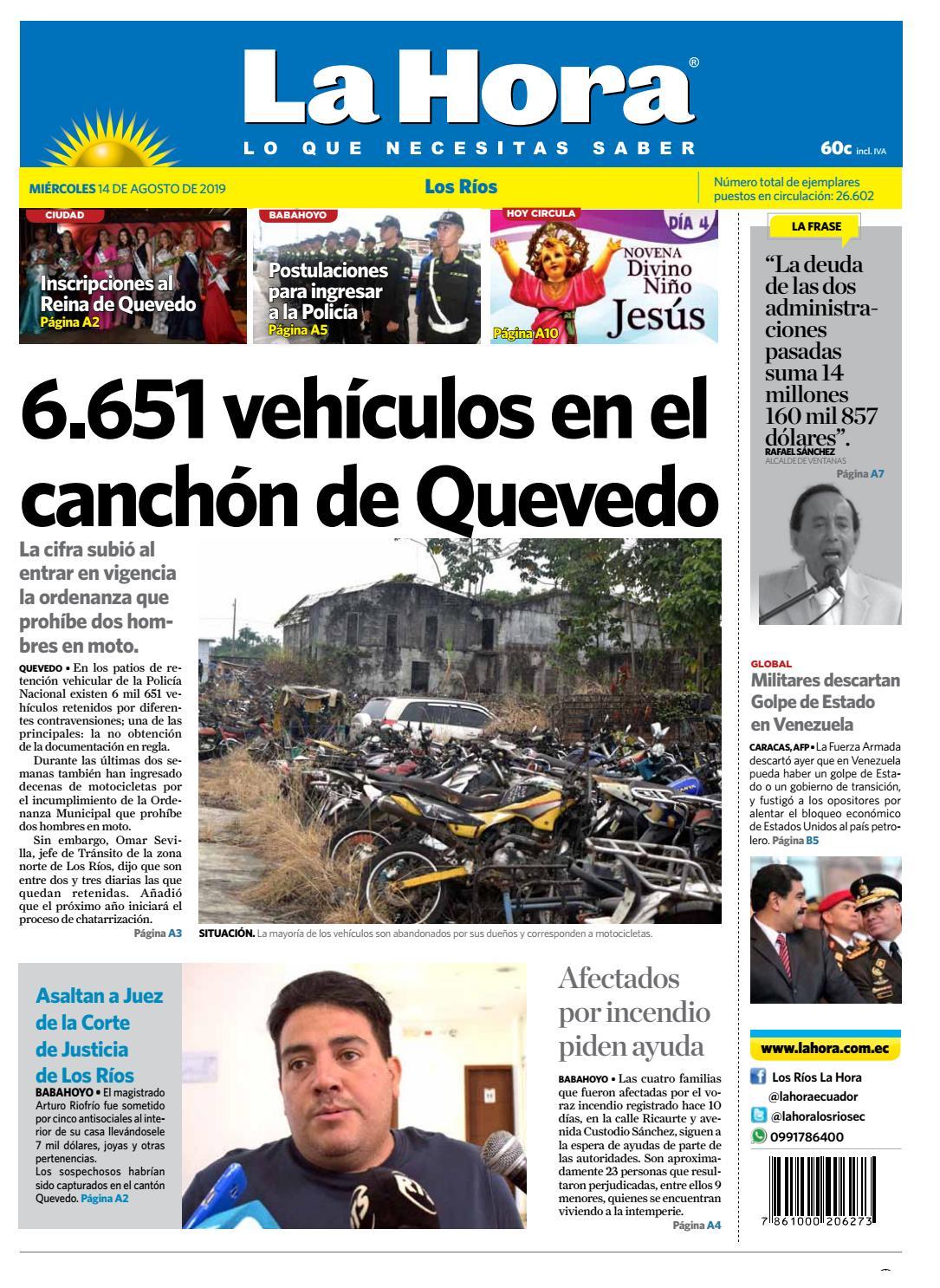 bd922e7f9033 Los Ríos 14 de agosto de 2019 by Diario La Hora Ecuador - issuu