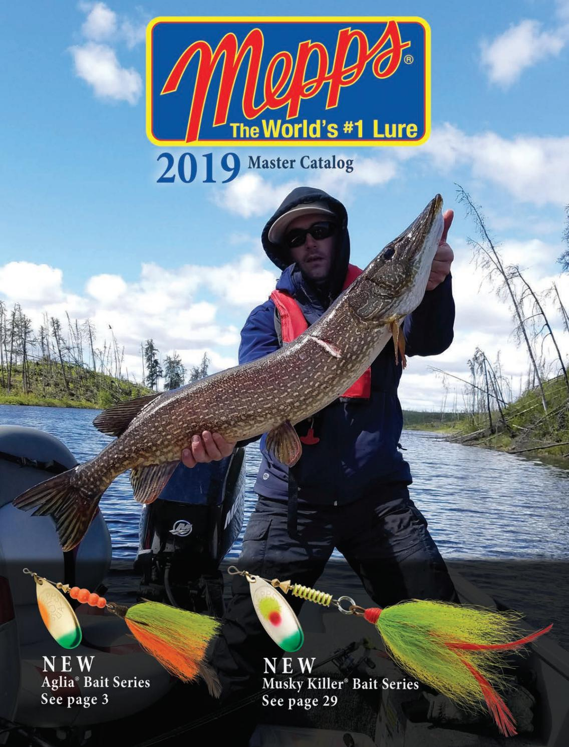 2 New 2018 Mepp Aglia Flashabou In-Line Spinner 1//4oz B3FT S-BLS