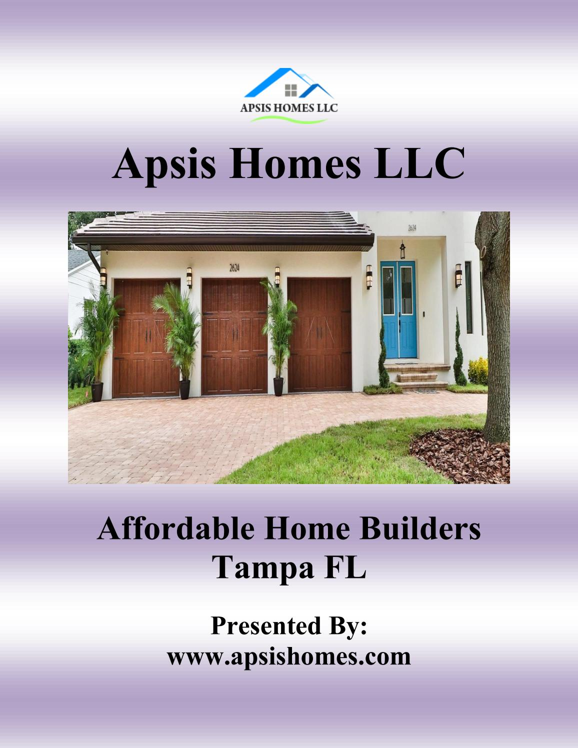 Affordable Home Builders Tampa Fl Apsishomes By Apsis