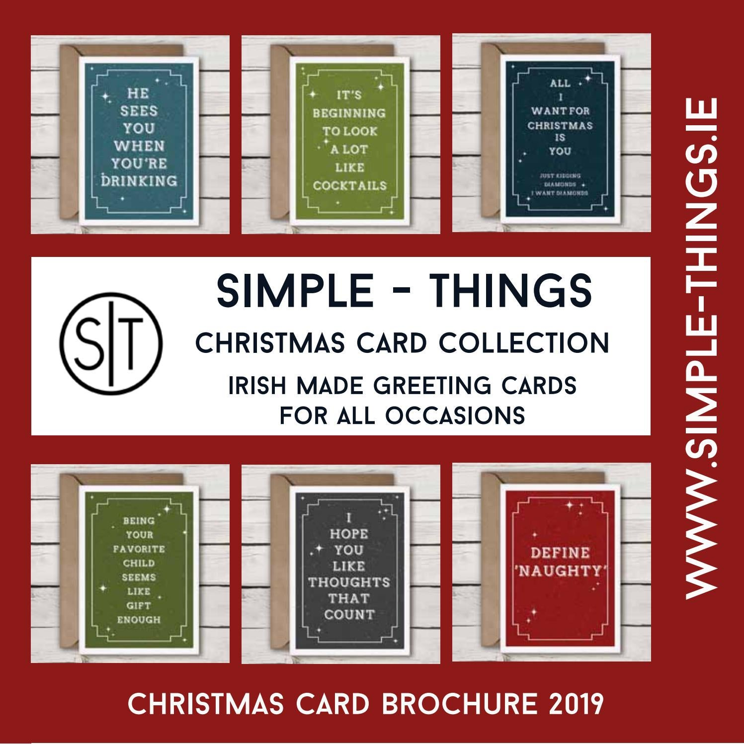 Things To Want For Christmas 2019.Simple Things Christmas Card Collection 2019 By Hanrahan