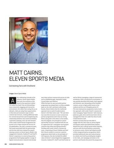 Page 6 of Team Talk: Matt Cairns