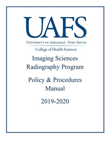 Radiography Policy Procedures Manual by University of