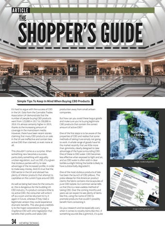 Page 38 of Shoppers Guide to CBD Products.