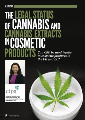 Page 58 of The Legal status of Cannabis and Cannabis Extracts in cosmetic products.