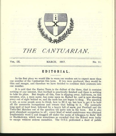 The Cantuarian March 1917 - July 1919 by OKS Association - issuu