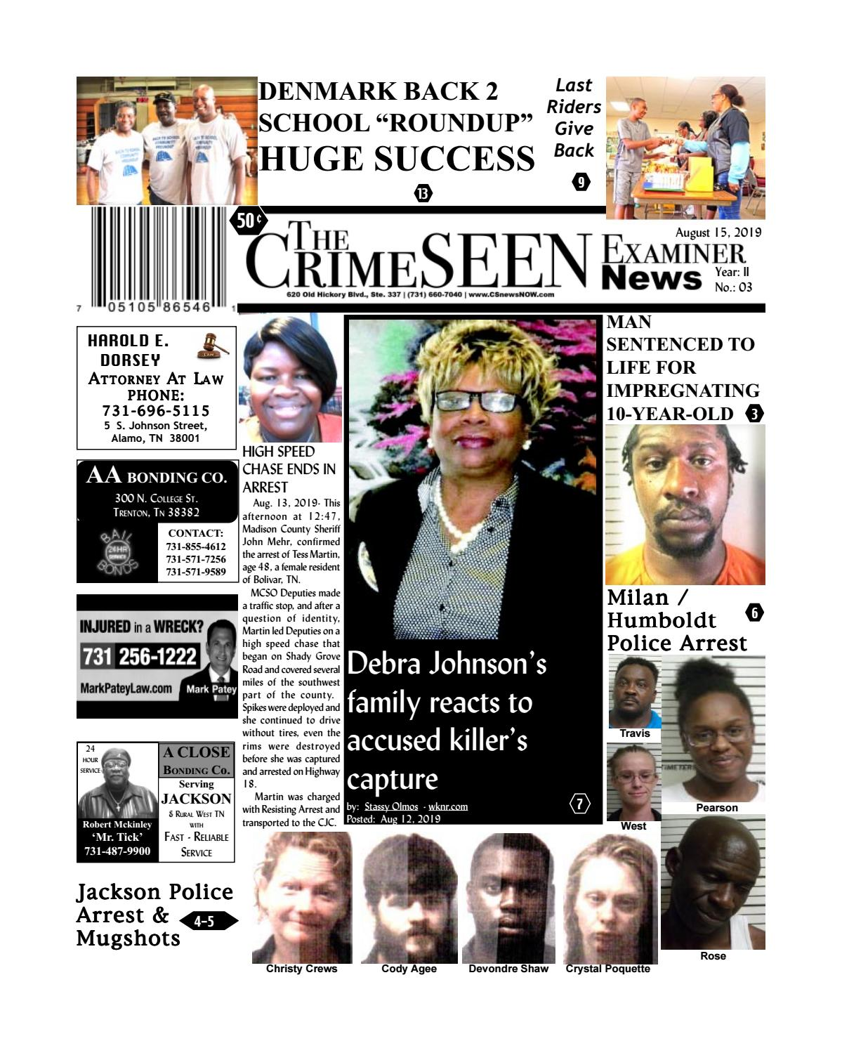 The Crimeseen Examiner News August 15 2019 By Crimeseen Examiner Issuu