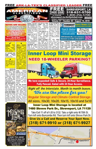 Yellow Cab Shreveport >> American Classifieds Shreveport La Aug 15th 2019 By