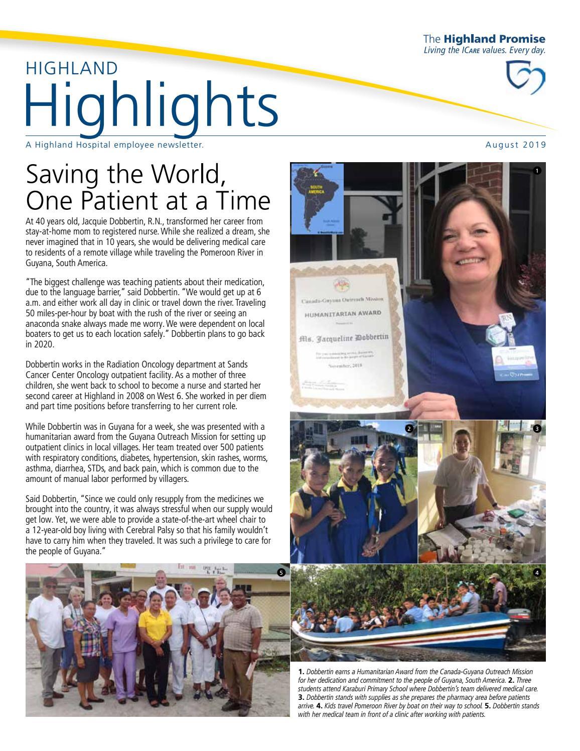 Highland Highlights August 2019 by Highland Hospital - issuu