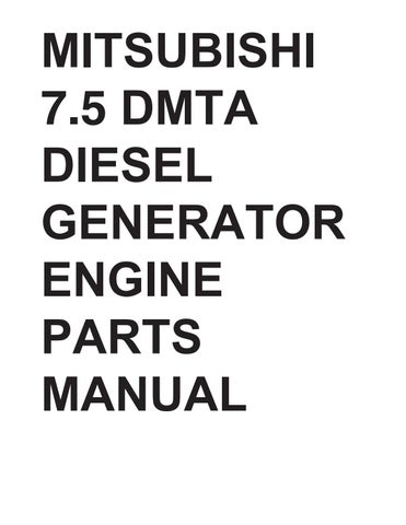 Mitsubishi 7 5 DMTA Diesel Generator Engine Parts Manual by