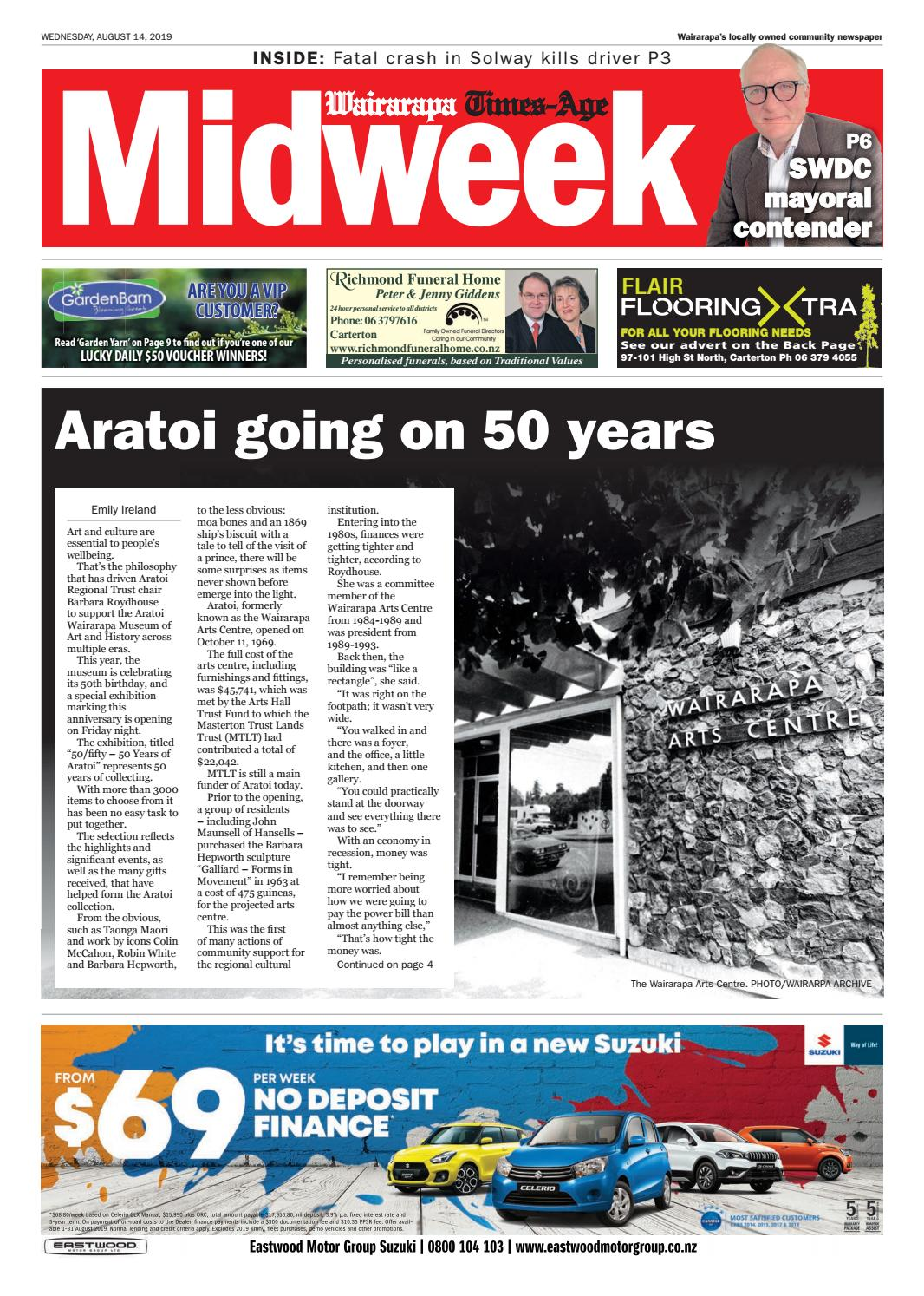 Wairarapa Midweek Wed 14th August by Wairarapa Times-Age - issuu