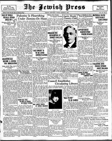 March 6 1931 By Jewish Press Issuu