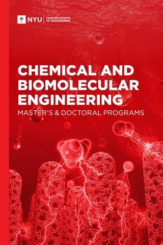 Chemical and Biomolecular Engineering Master's & Doctoral