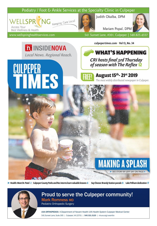 Culpeper Times - Aug  15-21, 2019 by InsideNoVa - issuu