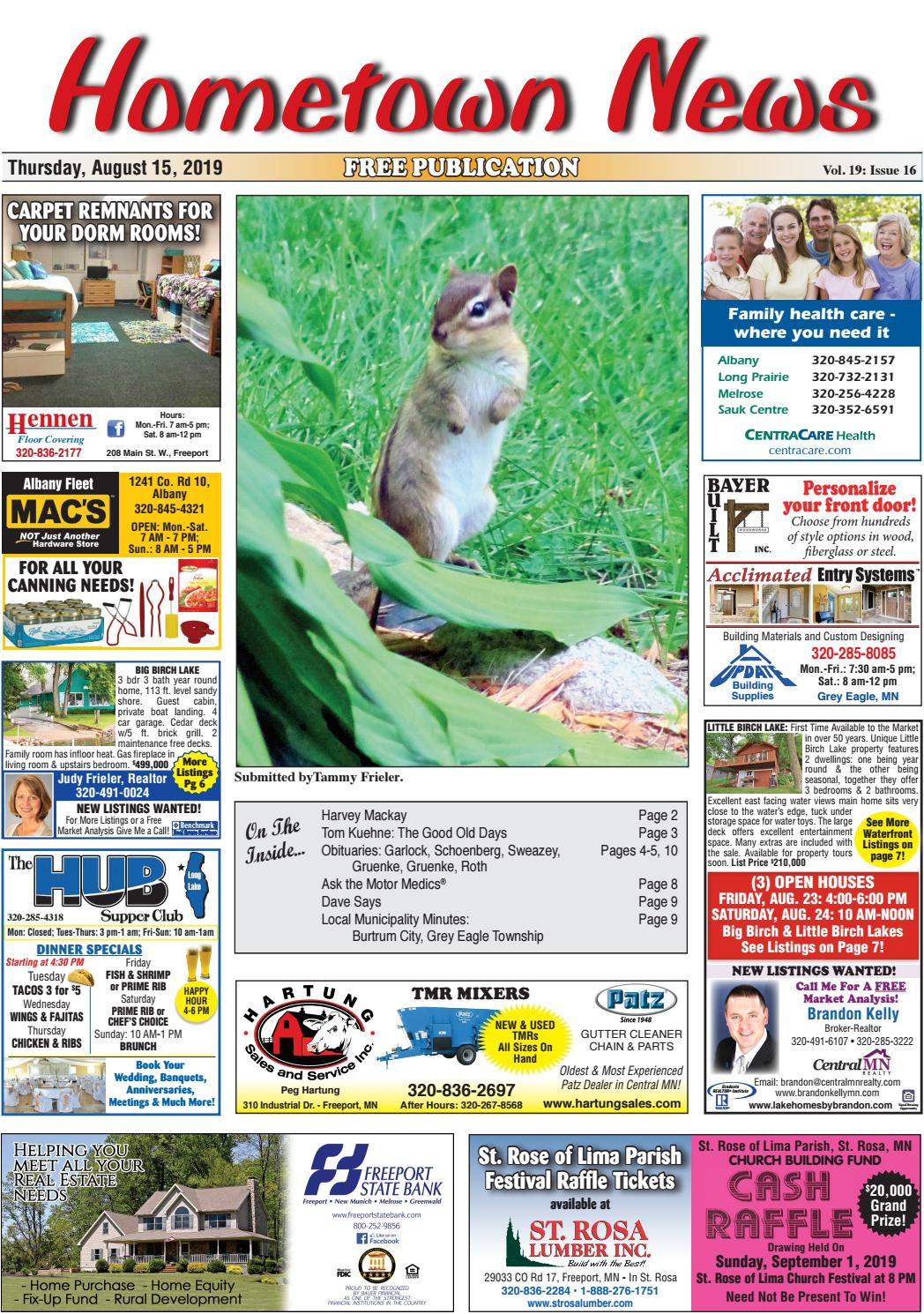 Hometown News August 15, 2019 by Hometown News - issuu