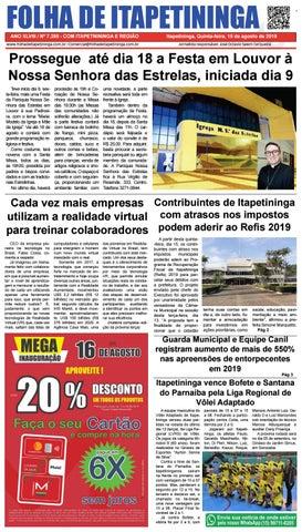Folha de Itapetininga 15/08/2019 (Quinta-feira)