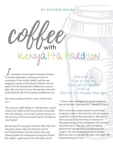 Page 25 of Coffee With: Kenyatta Hardison