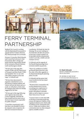 Page 21 of Ferry terminal partnership