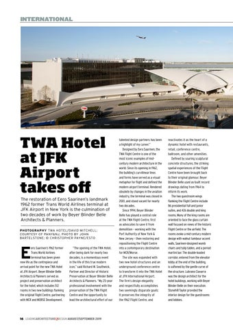Page 16 of TWA Hotel at JFK Airport takes off