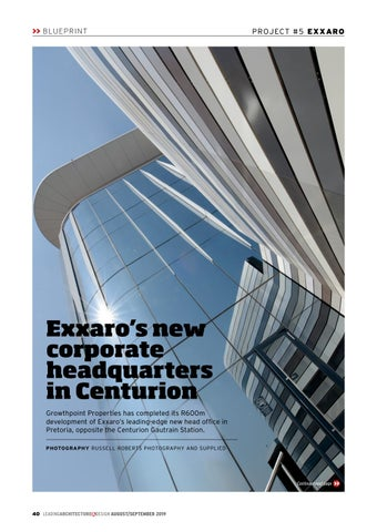 Page 40 of Exxaro's new corporate headquarters in Centurion