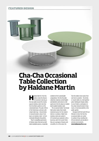 Page 82 of Cha-Cha Occasional Table Collection by Haldane Martin