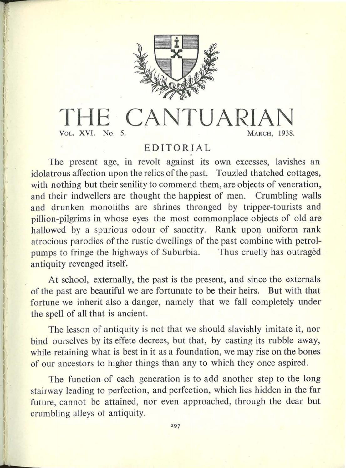 The Cantuarian March 1938 July 1938 By Oks Association Issuu