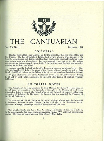 Rced Commentary Education Bills Put >> The Cantuarian December 1944 December 1945 By Oks
