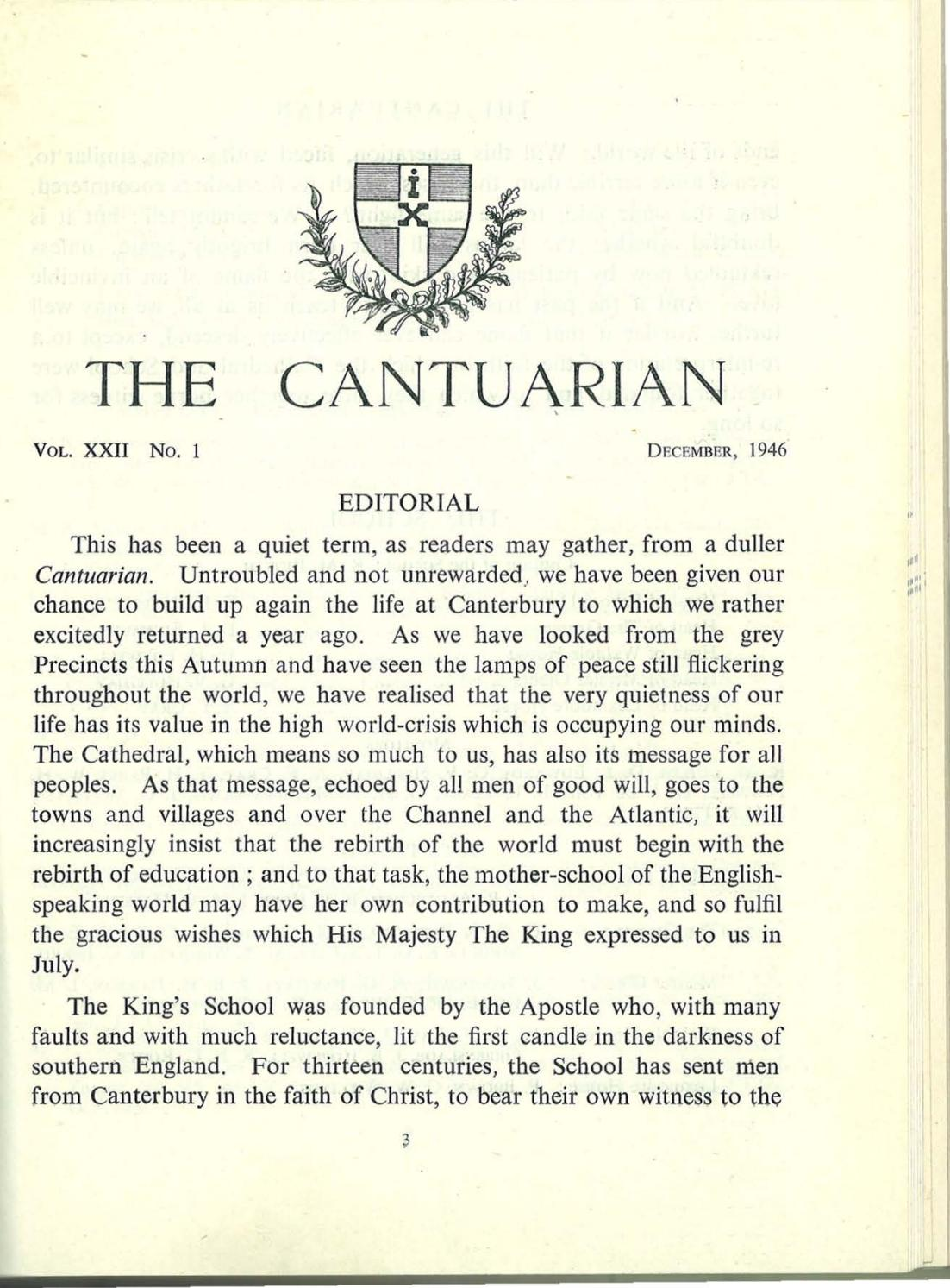 The Cantuarian December 1946 - March 1948 by OKS Association