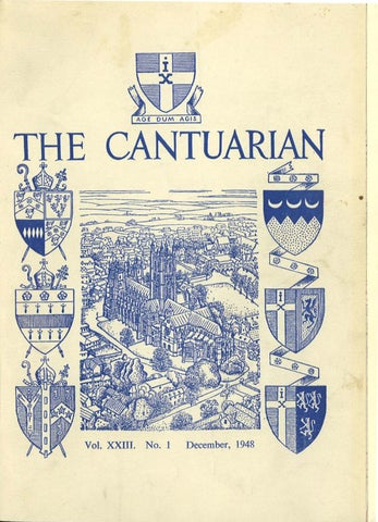 The Cantuarian December 1948 July 1950 by OKS Association