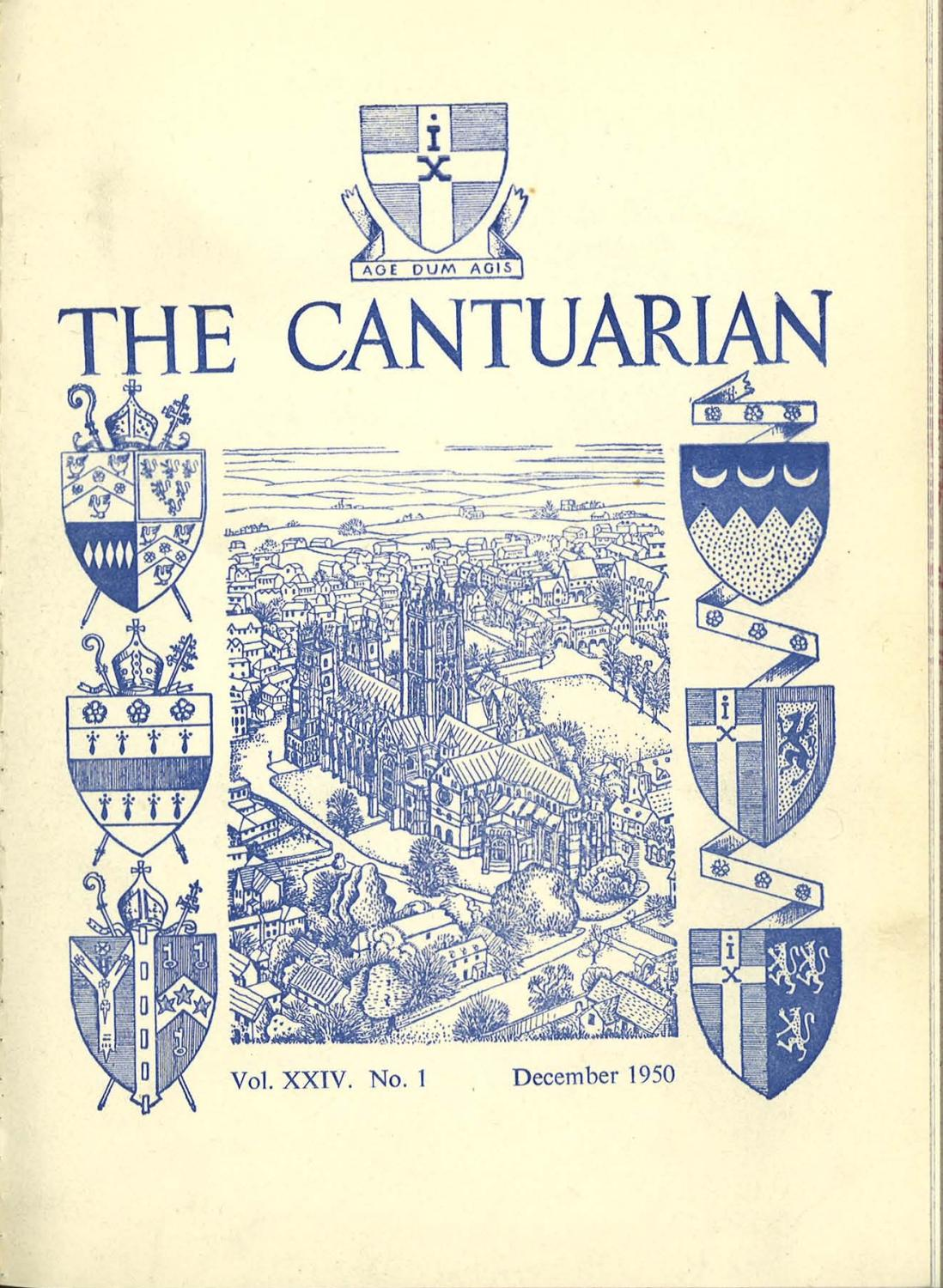 The Cantuarian December 1950 July 1951 By Oks Association Issuu