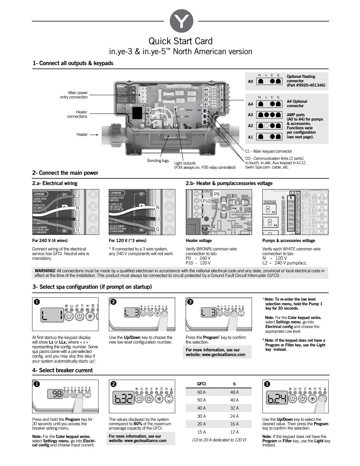 in.ye-3 & in.ye-5 control system Quick Start Card by Gecko ... on tractor key, ford key, honda key, radiator key, flywheel key, wiring diagrams for peterbilt trucks, valve key,