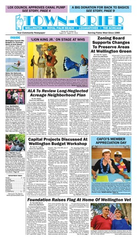 Town-Crier Newspaper August 16, 2019 by Wellington The