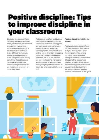 Page 6 of Positive discipline: Tips to improve discipine in your classroom