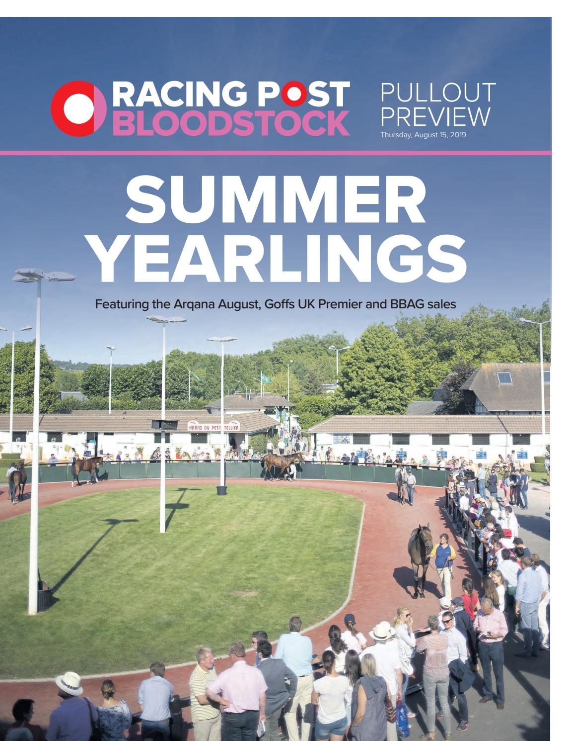 Summer Yearlings Supplement by RACING POST BLOODSTOCK - issuu