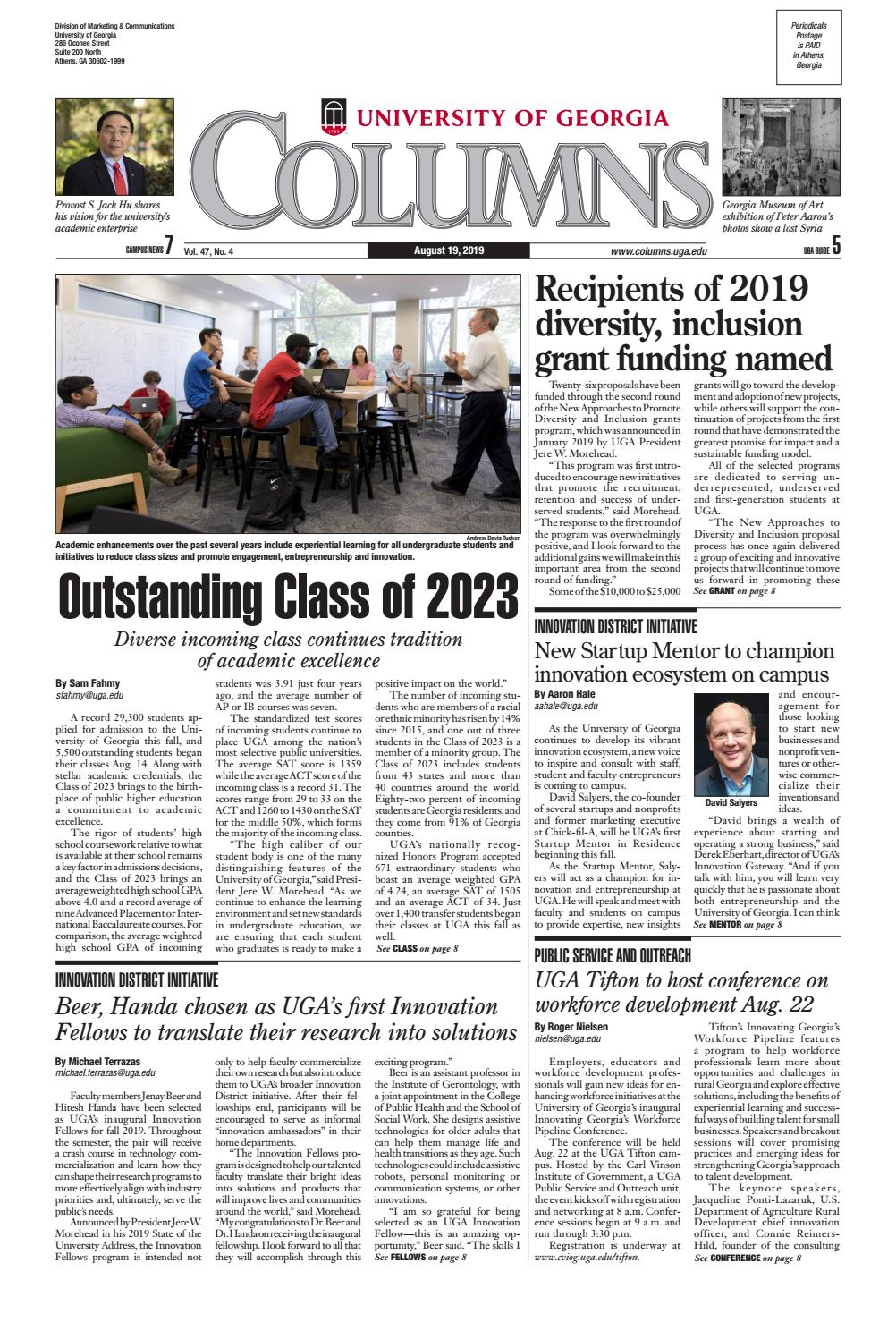 Uga Columns Aug 19 2019 By Uga Columns Issuu