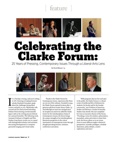 Page 20 of Celebrating 25 Years of the Clarke Forum