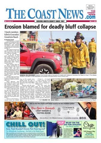 The Coast News, August 9, 2019 by Coast News Group - issuu
