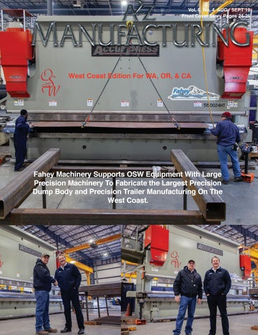 A2Z Manufacturing West Coast Edition Aug-Sept 2019 by A2Z
