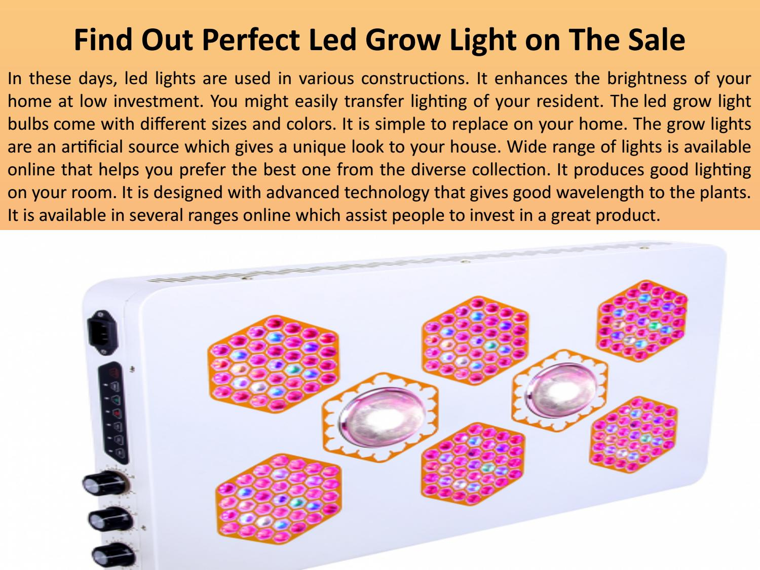 Find Out Perfect Led Grow Light On The Sale By Fauna Lights